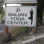 Balian Yoga Center Sign